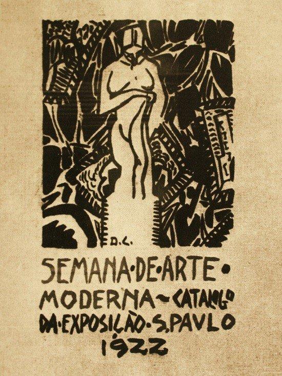 Capa do catálogo da exposição feita por Di Cavalcanti