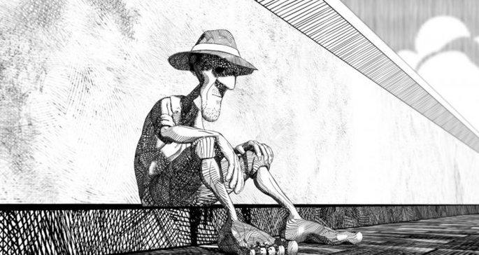 Ilustração da versão em quadrinhos de Vida e morte severina.