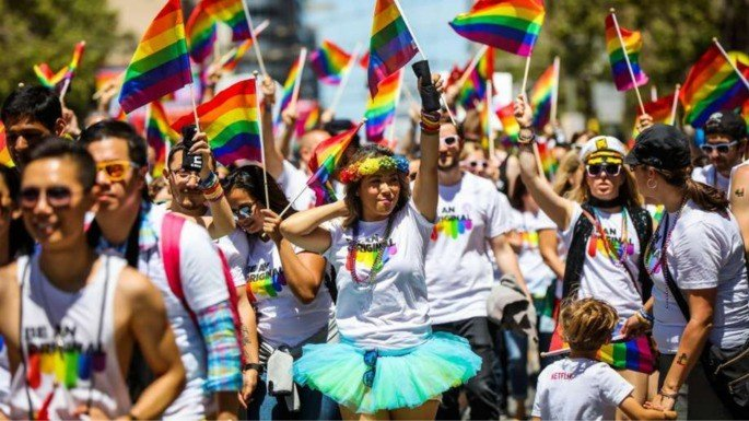 Retrato da Pride March de São Francisco em 2019.