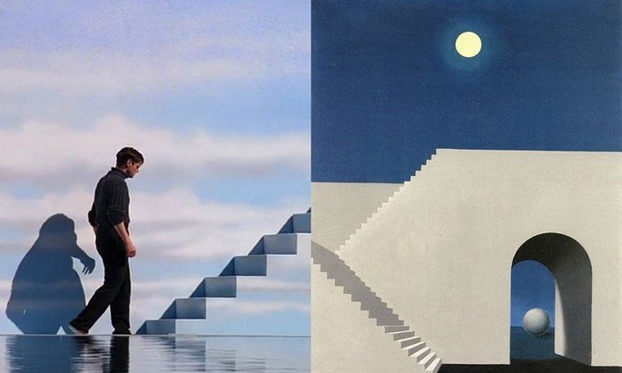 O show de Truman e tela de Magritte