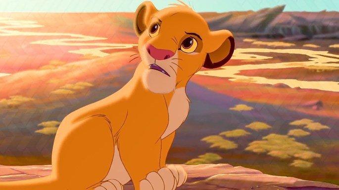 Simba, ainda criança.