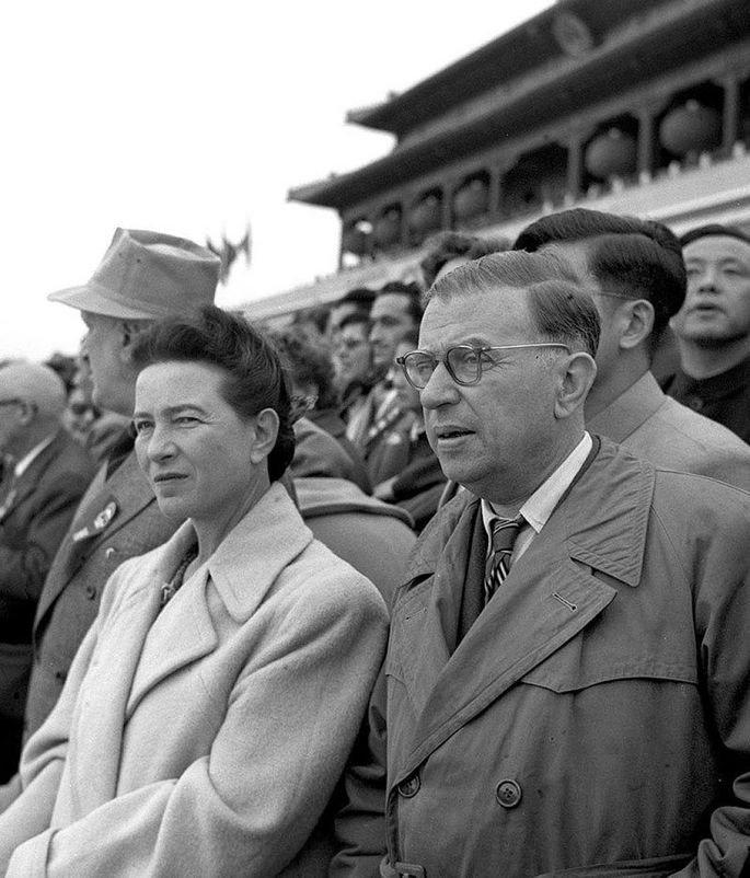 Beauvoir e Sartre em 1955.