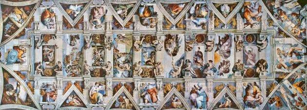 Teto da Capela Sistina - 40 m x 14 m - Vaticano