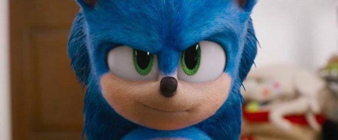 Frame de Sonic- O Filme 2020.