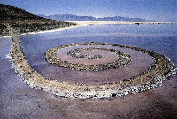 Plataforma espiral, land art de Robert Smithson