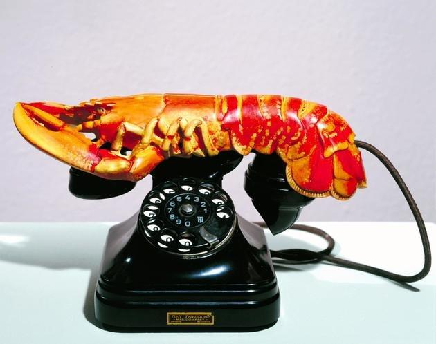 Téléphone - Homard (Telefone-lagosta) - metal, gesso, borracha, resina e papel, 1936 - Salvador Dalí, MoMa, NY