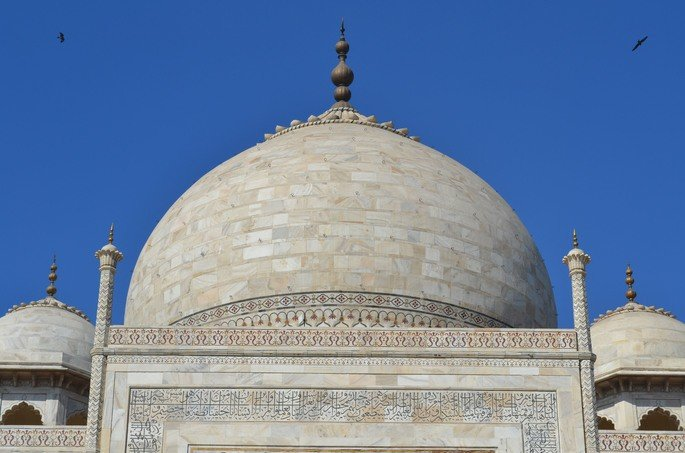 Detalhe: cúpula principal do Taj Mahal