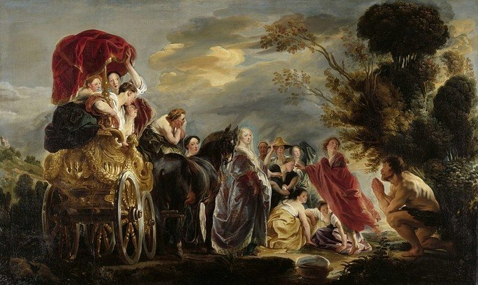 Jacob Jordaens, 'O encontro de Ulisses e Nausícaa'