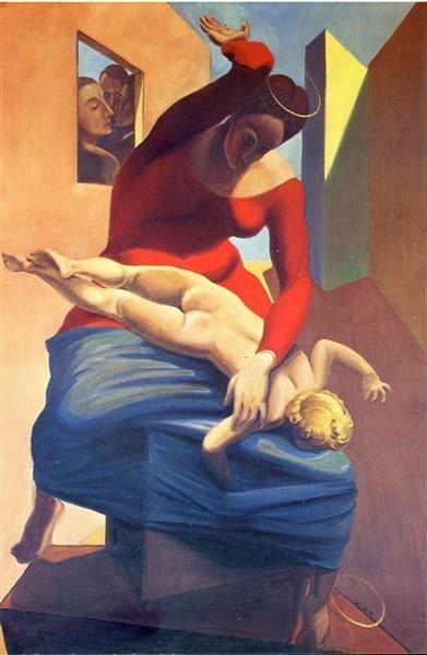 The Virgin Spanking the Christ Child Before Three Witnesses: Andre Breton, Paul Eluard, and the Painter (1926)