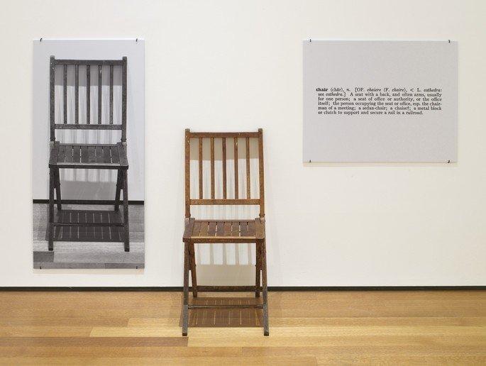 Uma e Três Cadeiras (1965), de Joseph Kosuth