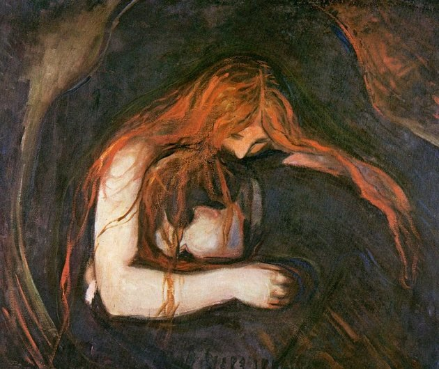 Vampiro, exibida em 1892.