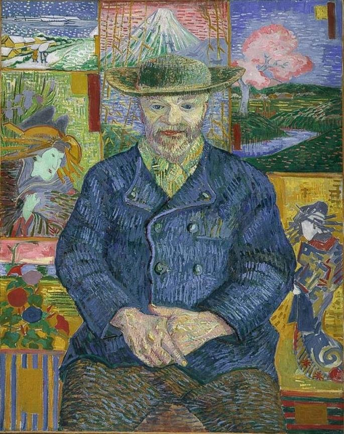 Retrato de Père Tanguy (1887), de Van Gogh