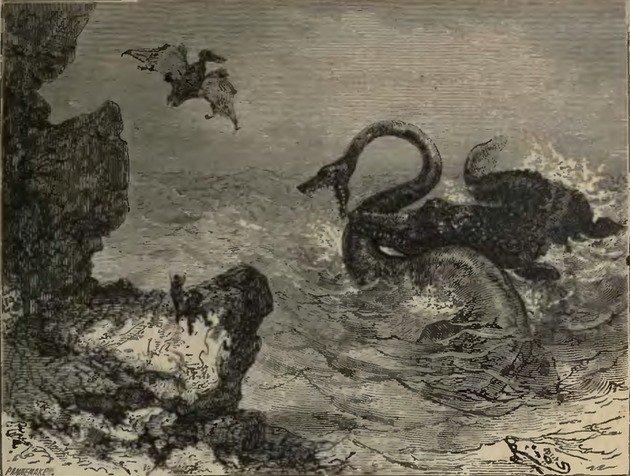 Ilustração presente na página 11 da edição original de Voyage au Centre de la Terre (1864).