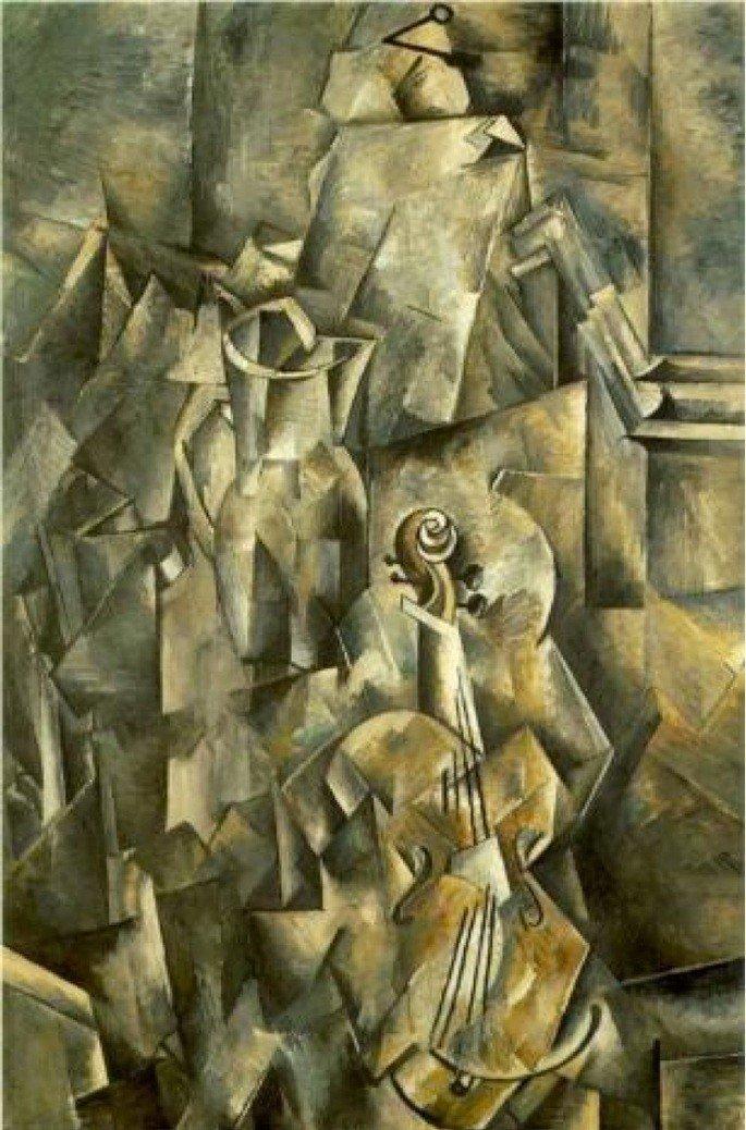 Violino e candelabro