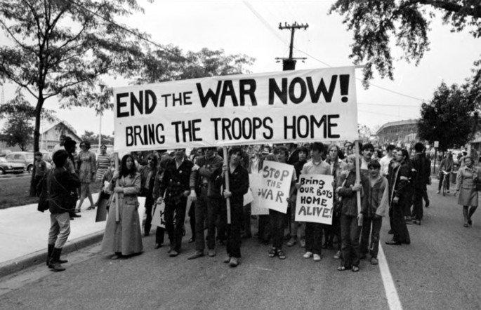 Protesto contra a Guerra de Vietna