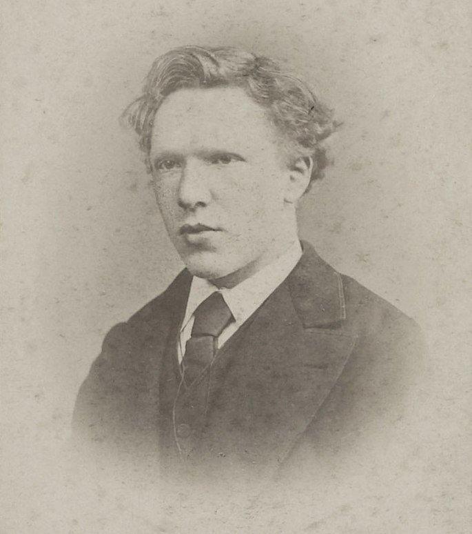 retrato de Van Gogh aos 19 anos