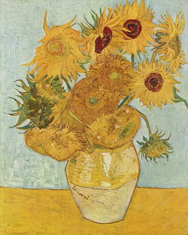 Doze Girassois Van Gogh