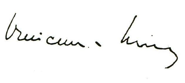 Assinatura de Vinícius de Moraes.