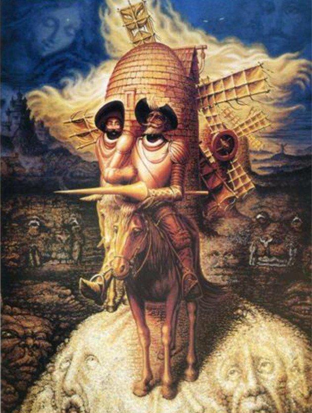 Octavio Ocampo, Visions of Don Quixote, 1989