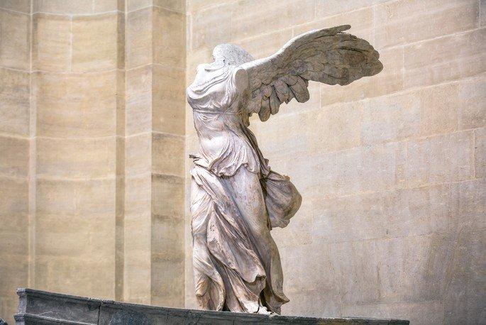 Escultura Vitória de Samotrácia ou Nice de Samotrácia, artista desconhecido